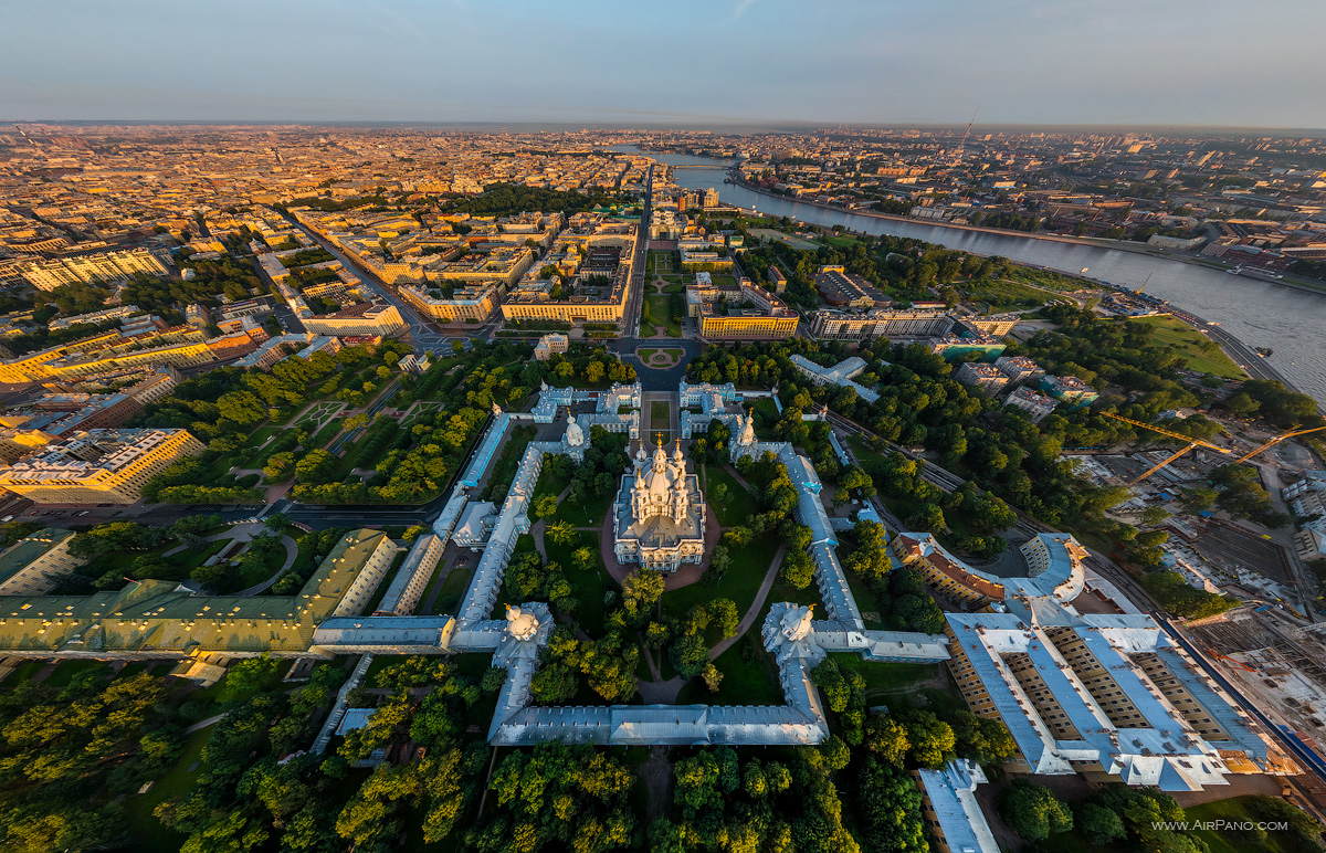 St. Petersburg - Bird&'s eye view of the Smolny Convent