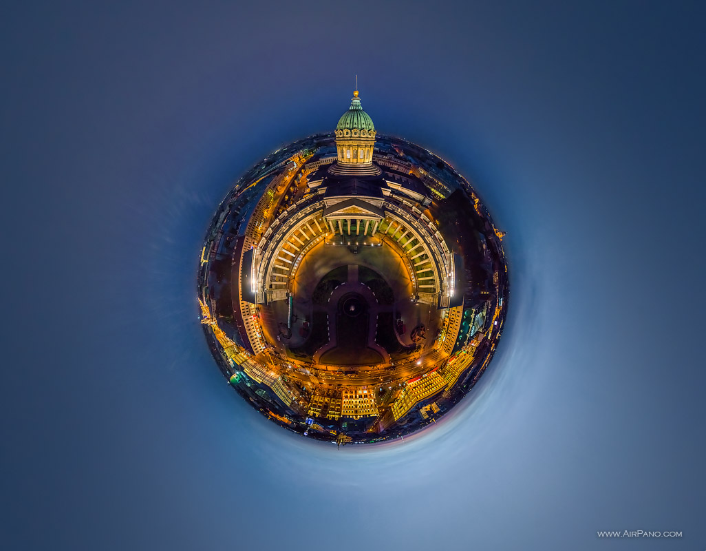 St. Petersburg - Kazan Cathedral at night