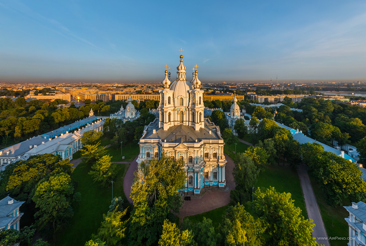 St. Petersburg - Smolny Cathedral, view from the embankment