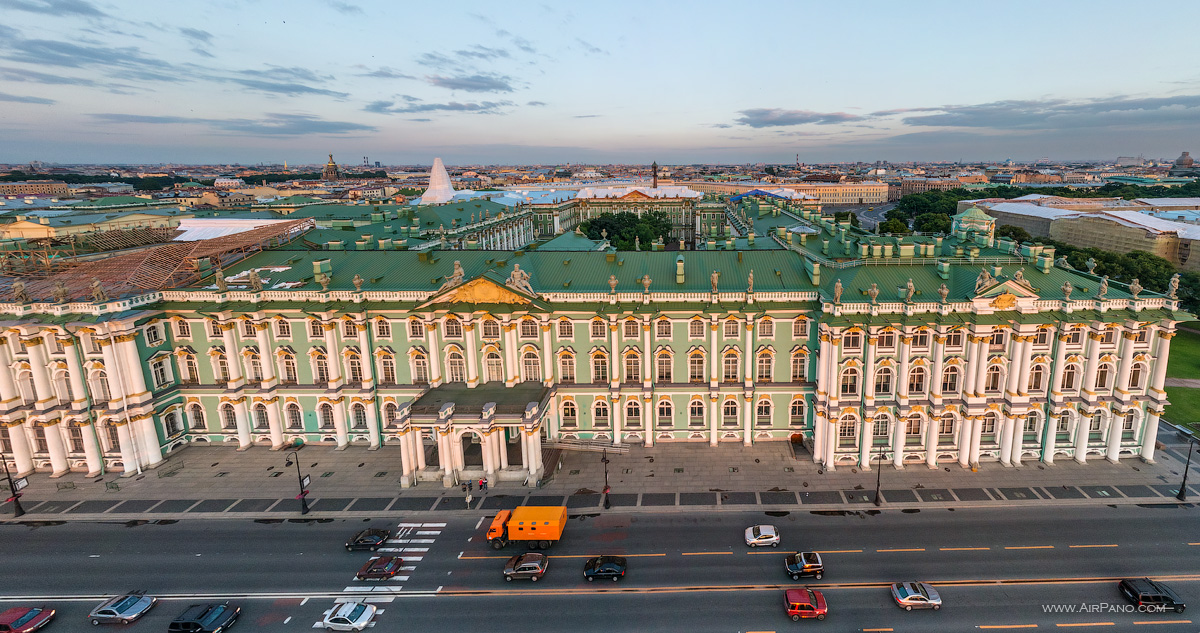 St. Petersburg - Winter Palace, view from the embankment