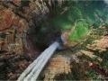 Eagle's Eye View of the Churun-meru (Dragon) fall, Venezuela