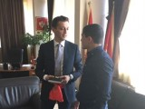 PODGORICA: Bošković primio Balšu Sinanovića, osvajača bronzane medalje na Evropskom juniorskom kupu u džudou