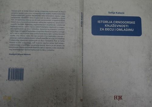 """SOFIJA KALEZIĆ: Monografija ,,Istorija crnogorske književnosti za đecu i omladinu"""" kao udžbenik za studente master programa od februara"""