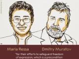 NOBELOVA NAGRADA ZA MIR: Dobitnici novinari Marija Reša i Dimitrij Muratov